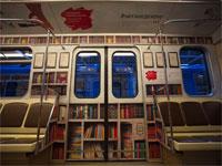 Фотофакт: МТС превратил вагоны минского метро в библиотеку