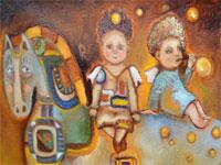 Открытие выставки работ В.Кудряшовой и Ю.Яковлевой